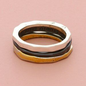 rlm studio sterling silver stack band (set 3) ring